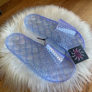 Olivia Miller Clear water jelly pool slide sandal